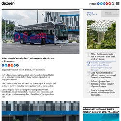 Volvo's first electric driverless bus swings into action in Singapore