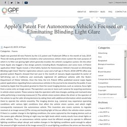 Apple's Patent For Autonomous Vehicle's Focused on Eliminating Blinding Light Glare