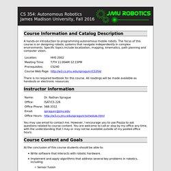 Autonomous Robotics: Syllabus