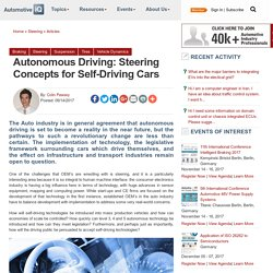 Autonomous Driving: Steering Concepts for Self-Driving Cars