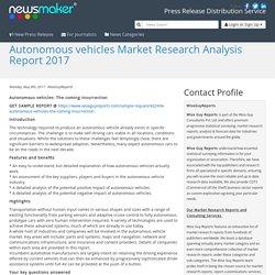Autonomous vehicles Market Research Analysis Report 2017