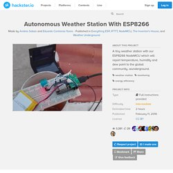 Autonomous Weather Station With ESP8266