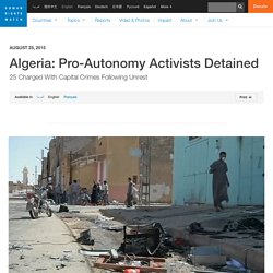 Algeria: Pro-Autonomy Activists Detained