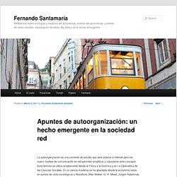 Apuntes de autoorganización: un hecho emergente en la sociedad red