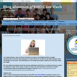 Blog alumnos 4ºESO C Ies Ifach: Autoorientación de estudios