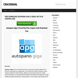 Autopano Giga 4 Serial Key Plus Coupon Code Download