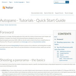 Autopano - Tutorials - Quick Start Guide - Autopano