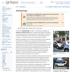 wikipedia : Autopartage