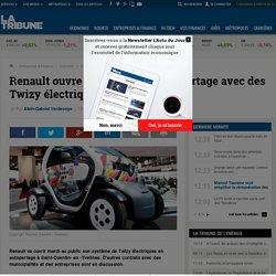 Renault ouvre un système d'auto-partage avec des Twizy électriques