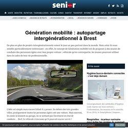 Génération mobilité : autopartage intergénérationnel à Brest