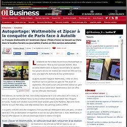 Autopartage: Wattmobile et Zipcar à la conquête de Paris face à Autolib