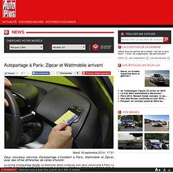 AUTOPARTAGE: ZIPCAR ET WATTMOBILE ARRIVENT A PARIS