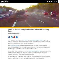 Tesla's Autopilot predicts a crash freakishly early