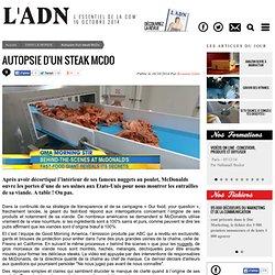 Transparence envers les consommateurs : l'Autopsie d'un steak McDo