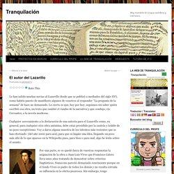 El autor del Lazarillo
