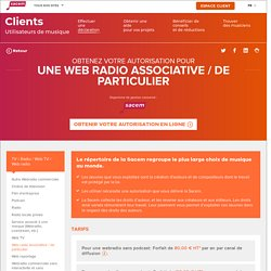 Obtenir une autorisation Web radio associative / de particulier - La Sacem