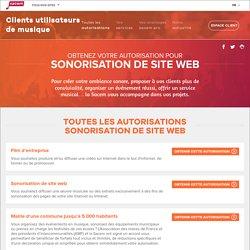 Autorisation diffusion de musique - La Sacem