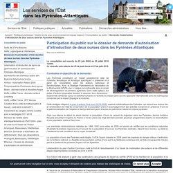 Demande d'autorisation d'introduction de deux ourses dans les Pyrénées-Atlantiques / Consultation du public / Cadre de vie, eau, environnement et risques majeurs / Politiques publiques