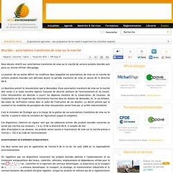 Biocides : autorisations transitoires de mise sur le marché
