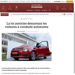 La loi autorise désormais les voitures à conduite autonome