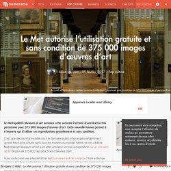 Le Met autorise l'utilisation gratuite et sans condition de 375 000 images d'œuvres d'art - Pop culture