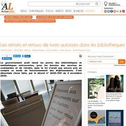 Les retraits et retours de livres autorisés dans les bibliothèques