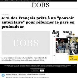 """41% des Français prêts à un """"pouvoir autoritaire"""" pour réformer le pays en profondeur"""