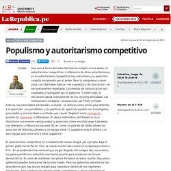 Populismo y autoritarismo competitivo