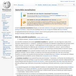 Autorités monétaires