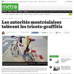 Les autorités montréalaises tolèrent les tricots-graffitis