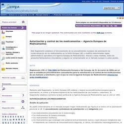 Autorización y control de los medicamentos – Agencia Europea de Medicamentos