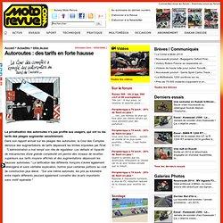 Autoroutes : des tarifs en forte hausse