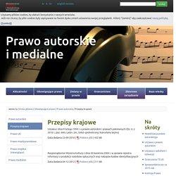 Prawo autorskie - Przepisy krajowe
