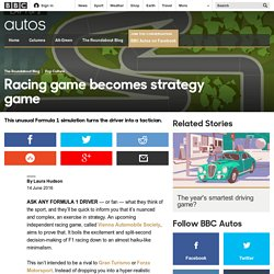 Autos - Racing game becomes strategy game