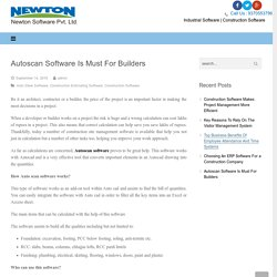 Autoscan Construction Software Is Best For Builders