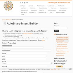AutoShare Intent Builder – joaoapps