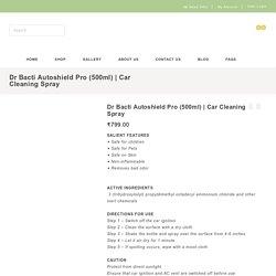 Car Sanitizer Spray & Car Cleaner