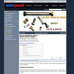 AutoSpeed - All You Need to Know About Nuts & Bolts
