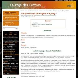 Autour du mot latin iugum « le joug »