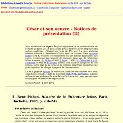 Autres notices modernes sur Jules César
