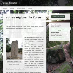 autres régions : la Corse – Lieux Energies