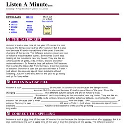 Autumn: Listen A Minute.com: English Listening Lesson