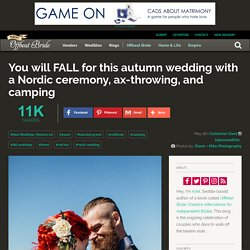 You will FALL for this autumn wedding with a Nordic ceremony