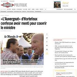 «L'Auvergnat» d'Hortefeux confesse avoir menti pour couvrir le ministre