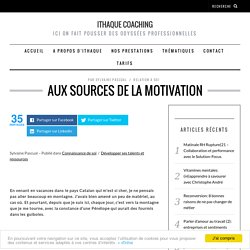 Aux sources de la motivation