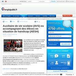 Auxiliaire de vie scolaire (AVS) ou accompagnant des élèves en situation de handicap (AESH)