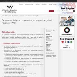 Devenir auxiliaire de conversation en langue française à l'étranger (WBI)