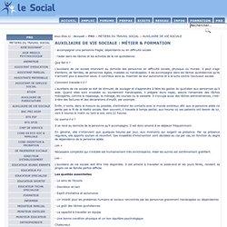 AUXILIAIRE DE VIE SOCIALE