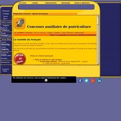 Concours d'auxiliaire de puériculture pour entrée à l'IFAP : épreuve de français