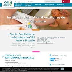 IFAP - Institut de Formation d'Auxiliaires de Puériculture - CHU Amiens-Picardie